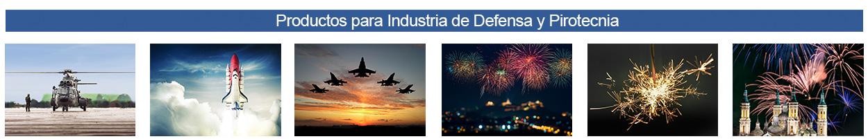 Productos para Industria de Defensa y Pirotecnia