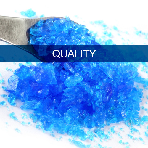 Raw materials of the highest purity and quality
